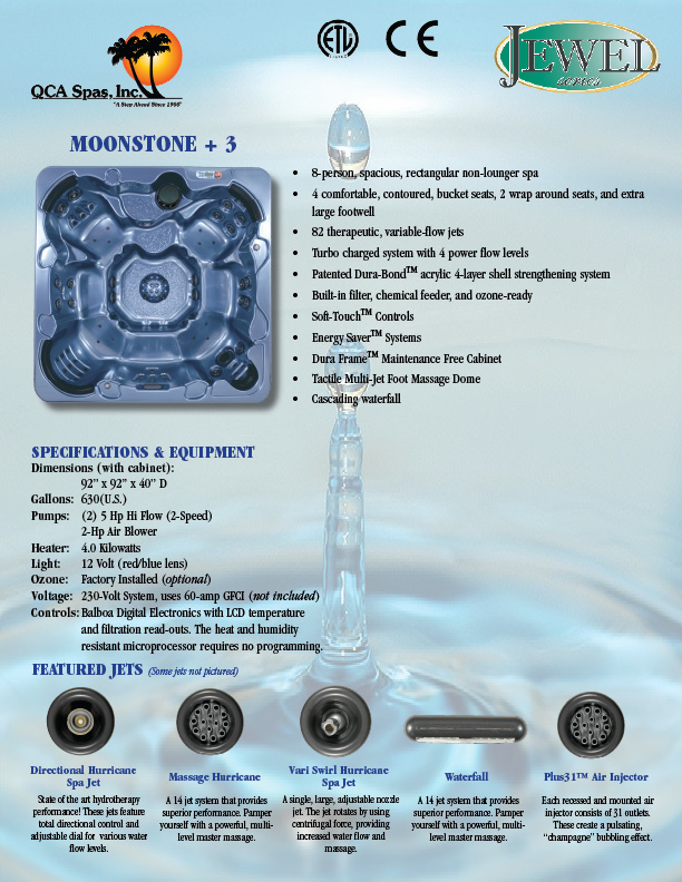 Qca Pools And Spas Moonstone Plus 3